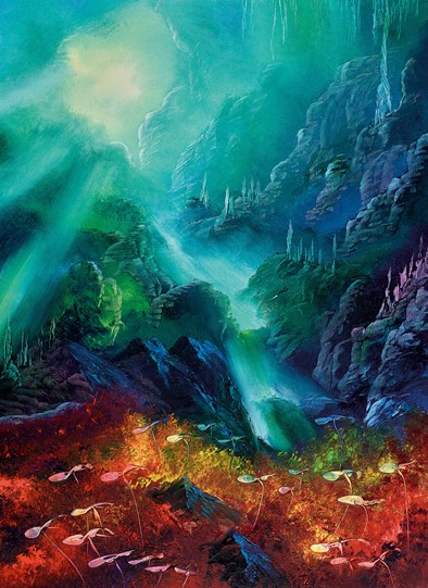 Colours of the Deep by Philip Gray - Embelished Canvas on Board
